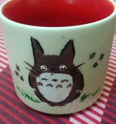 Mug Canvass: My First Painting, My Neighbor Totoro :)