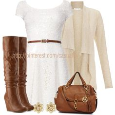"""Knit Sleeveless Dress & Wedge Boots"" by casuality on Polyvore"