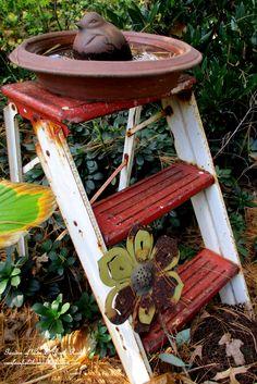 Fall Birdbath (Garden of Len & Barb Rosen)