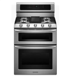 KDRS505XSS in Stainless Steel by KitchenAid in Atlanta, GA - 30-Inch, 5-Burner Freestanding Double Oven Range with Even-Heat Convection - Stainless Steel