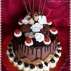 DRIP CAKE MASCARPONE E NUTELLA