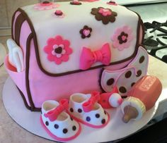 my first diaper bag cake.  everything is edible.