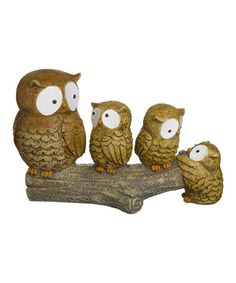 Another great find on #zulily! Owl Family Log Figurine by Grasslands Road #zulilyfinds