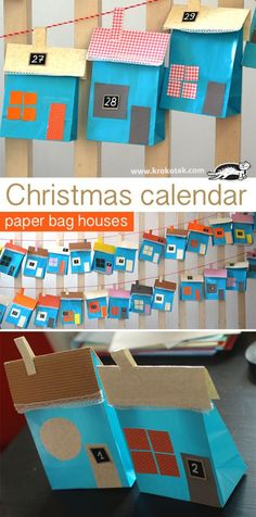Christmas Advent Calendar – Paper Bag Houses