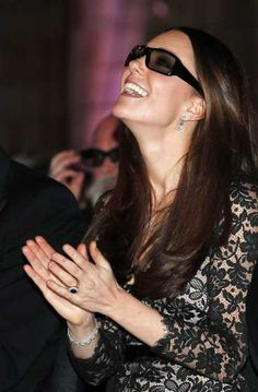 Catherine, Duchess of Cambridge wears 3D glasses before a screening of David Attenborough's Natural History Museum Alive 3D at #NaturalHistoryMuseum on December 11, 2013 in London. See who else has been spotted here:  http://celebhotspots.com/hotspot/?hotspotid=31011&next=1