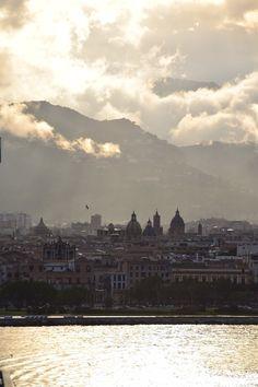 Sonnenuntergang Palermo Sizilien Italien