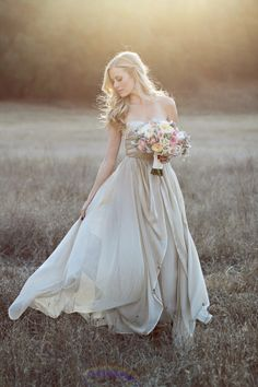 Champagne Wedding Gown |  Jennifer Ebert Photography