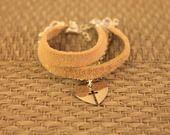 Bracelet Manchette Multirang Coeur Argent : Bracelet par poupette-pipelette