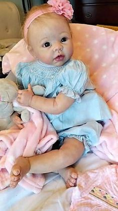 I AM BLESSED WITH TOO MANY CUSTOM ORDERS AT THIS TIME. I AM NOW TAKING CUSTOM ORDERS FOR JULY 2018. 2017 was a Wonderful Year. I met some Incredible new People who Adopted my Reborn Babies. Thank you and God Bless, Elli SWEET ELLI LYNN was a Custom Order and IS ADOPTED! Beautiful