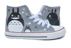 My Neighbor Totoro anime Custom Canvas Totoro hand by ShowMyColor ---- OMG!!! Someone please get me these!!!!!!!