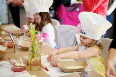 paper chef hats and make your own pizzas for cooking party