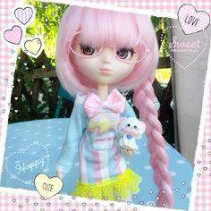 Kawaii Sweet Jelly dress outfit ⭐️ www.bunnykawaii.com ⭐️ #ftwr #followthewhiterabbit #bunnykawaii #kawaii #pullip #pullipdoll #doll #dollclothes #poupee #poupeecollection #cute #cuteness #sweet #sweetjelly #creamymami #cat #handmade