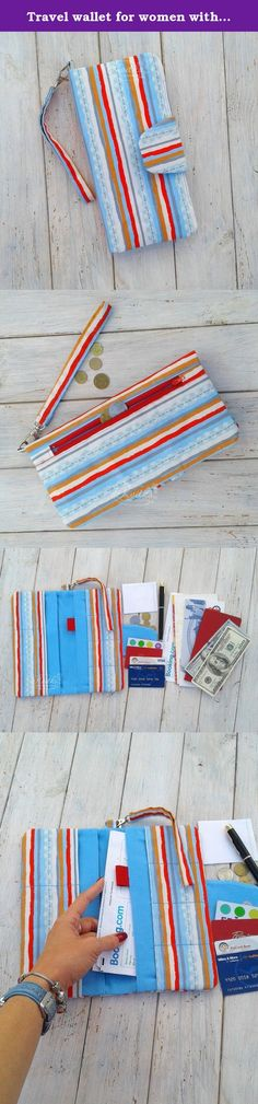 Travel wallet for women with blue and red stripes print READY TO SHIP | passport wallet | passport holder | family passport holder | passport cover. This travel wallet made from 100% cotton fabric with stripes print and ideally fits all your documents in the trip. It could be used as family passport holder. We've all had the experience of being gripped with fright when we can't remember where we've put our passport, haven't we? When we're fishing helplessly around in our handbag or…