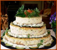 Smoked Salmon and Dill Cheesecake