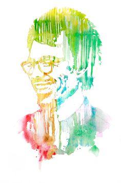 Large custom portrait watercolor on paper 12 x 18 by SilentMStudio (Aralyn McGregor)