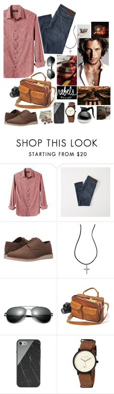 """Gryffindor~ founders"" by nerdyquirkystyle ❤ liked on Polyvore featuring Banana Republic, Abercrombie & Fitch, TOMS, Avon, Native Union, Ted Baker, men's fashion and menswear"