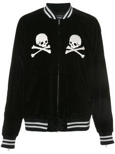 Shop Mastermind Japan embroidered skull bomber jacket 40c23a38c