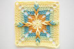 Small crochet square