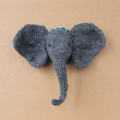 Munin the Elephant ~ A Microdermy Knits Pattern ~ DIY Miniatuer Faux Taxidermy Knitting - downloadable PDF