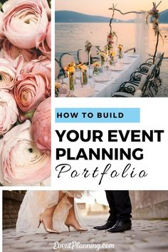 How to Build your Event Planning Portfolio : Are you wondering how to start a wedding or event planning business? How do you build your portfolio as a wedding or event planner? Here are key tips for getting your first event planning clients to start. Event Planning Business, Event Planning Design, Business Events, Corporate Events, Event Design, Party Planning, Business Ideas, Business Goals, Social Events