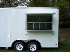 Concession Trailer 8.5'x16' White Food Vending Trailer – 538A | MyVendingTrailer.com