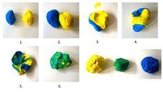 Piccolo Blu e Piccolo Giallo 1) Formare due palline una blu e una gialla e unitele in un abbraccio 2) Aiutiamo i personaggi a ritrovare la propria identità, stacchiamo i pezzetti di blu e giallo e ricomponiamo i protagonisti del racconto.