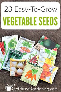 Starting your own vegetable seeds can be hard to get the hang of, especially for new gardeners. Well guess what. Some veggies are actually much harder to start from seeds than others are. So, if you're interested in growing your own food from seed for the first time, then begin with a few easy vegetable seeds to grow, and go from there. Check out my list of the easiest vegetables to grow from seed to help get you started planting seeds indoors or out. List Of Vegetables, Easy Vegetables To Grow, Growing Veggies, Planting Vegetables, Gardening For Beginners, Gardening Tips, Organic Gardening, Indoor Gardening, Pallet Gardening