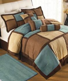 19 pc comforter curtain set blue turquoise sheet brown beige king size new ebay turquoise and brown bedding pinterest brown beige king size and