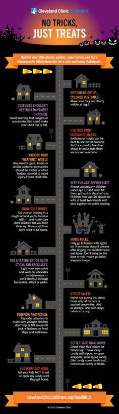 #Halloween night is supposed to be full of spooky, but safe, fun. Discuss these #safety tips with your #children before your trick-or-treaters head out the door to gather their loot.