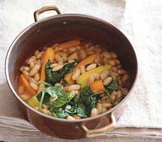 Cannellini Bean Stew Bursting with carrots, spinach, and white beans ...