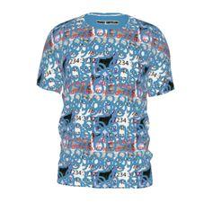 #between the numbers by #frankiet, #alloverprint, #tee, #teeshirt, #tshirt, #numbers, #design, #doodle, #blue, #math, #between, #@The Citrus Report