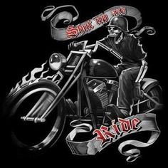 Biker Shut Up and Ride Skull  Road Hog Motorcycle Helmet Rally Davidson Choppers #Unbranded #GraphicTee