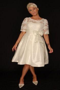 ... plus size wedding dresses tea length