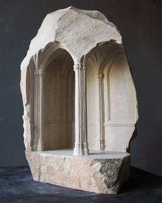 Mini arquitecturas talladas en piedra - Matthews Simmons