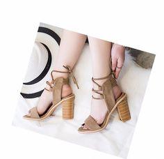 Xda 2017 mulheres sexy bombas dedo do pé aberto rendas até saltos sandálias Mulher sandálias Grossas com Sapatos Femininos mulheres Sapatos de salto Alto X357 em Sandálias das mulheres de Sapatos no AliExpress.com   Alibaba Group