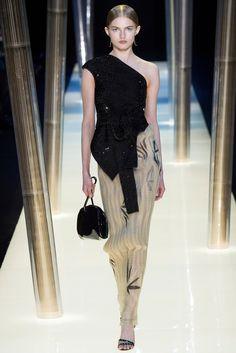 Armani Privé Spring 2015 Couture Fashion Show - Josephine Le Tutour