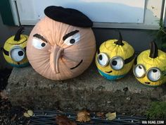 Despicable Me pumpkins. Hope you guys like them https://www.facebook.com/GeorgeLopez/photos/a.96082366407.96915.30776016407/10153138915416408/?type=3