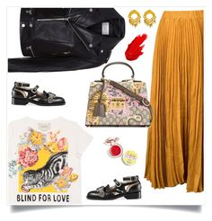 """Gucci"" by tina-pieterse ❤ liked on Polyvore featuring Kaelen, Gucci, Sandro, Botkier, Maybelline and Supergoop!"