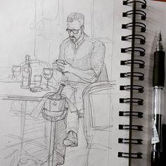 Пора завтракать.  #drawing #illustration #portrait #sketch #pencil #sketchbook #art #artwork #painting #eskiz #topcreator #портрет #рисунок #карандаш #набросок #эскиз