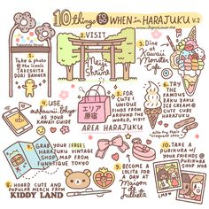 10 Things To Do When in Harajuku v.2 (infographic by @ChichiLittle ) - http://www.fb.com/japanloverme  http://ourkawaii.tokyo/harajuku/10-things-to-do-when-in-harajuku…