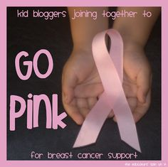 The Educators' Spin On It: Kid Bloggers Joining together to Go Pink for breast cancer support!  Resources for talking to your kids and community outreach.