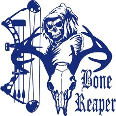 Details About Custom Name Grim Reaper Bow Hunting Deer Car Truck - Bowtech custom vinyl decals for trucks