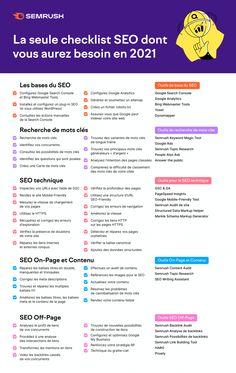 La seule checklist SEO dont vous aurez besoin en 2021 : 41 bonnes pratiques, via @semrush_fr Seo Marketing, Content Marketing, Digital Marketing, Seo On Page, Web Design, Wordpress, Seo Optimization, Twitter Sign Up, Communication