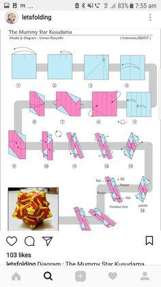 Origami Paper Art, Paper Quilling, Diy Paper, Paper Crafts, Useful Origami, Diy Origami, Origami Tutorial, Origami Mobile, Origami Diagrams
