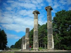 """""""Columns"""" are Remnants of Federal Treasury Building at Pioneer's Park, Lincoln, Nebraska"""