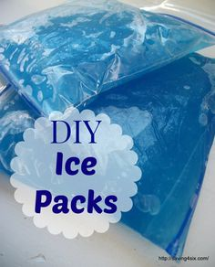 DIY Ice Packs with simple ingredients you probably already have.  These stay soft, so they easily mold around a painful knee or other aches and pains.
