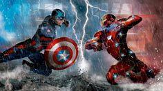 Download Captain America vs Iron Man Wallpaper Art 1920x1080