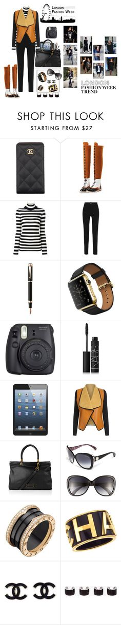 """London fw - day 3"" by mbarbosa ❤ liked on Polyvore featuring Chanel, WithChic, Laneus, Givenchy, Montegrappa, Fuji, NARS Cosmetics, Apple, Marc by Marc Jacobs and Jimmy Choo"