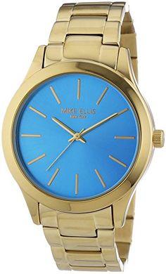 Mike Ellis New York Damen-Armbanduhr Golden Eye Analog Quarz Edelstahl beschichtet SL4-50124 - http://uhr.haus/mike-ellis-new-york/mike-ellis-new-york-damen-armbanduhr-golden-eye-2