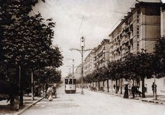Tranvía en el Paseo Pereda, 1912.